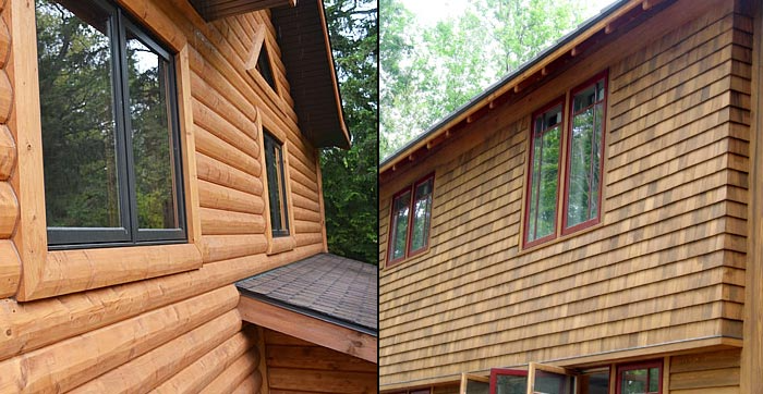 Vinyl Siding That Looks Like Wood Cedar Shakes And Faux Log Grain Cost Colors And Details In 2020 Vinyl Siding Cedar Siding Cedar Shingle Siding