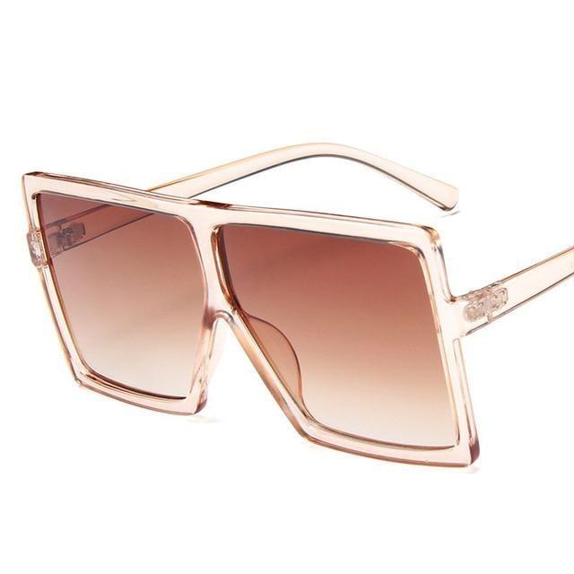 Plastic Oversized Women Sunglasses Square