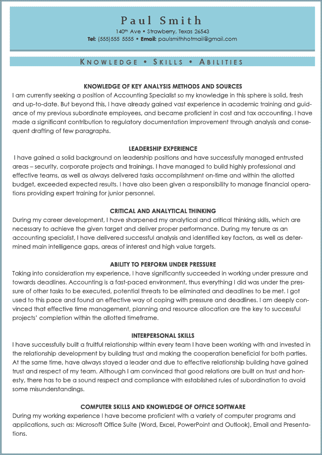 Areas Of Expertise Resume Examples Skills And Abilities On Resume  Sample Resume Center  Pinterest .