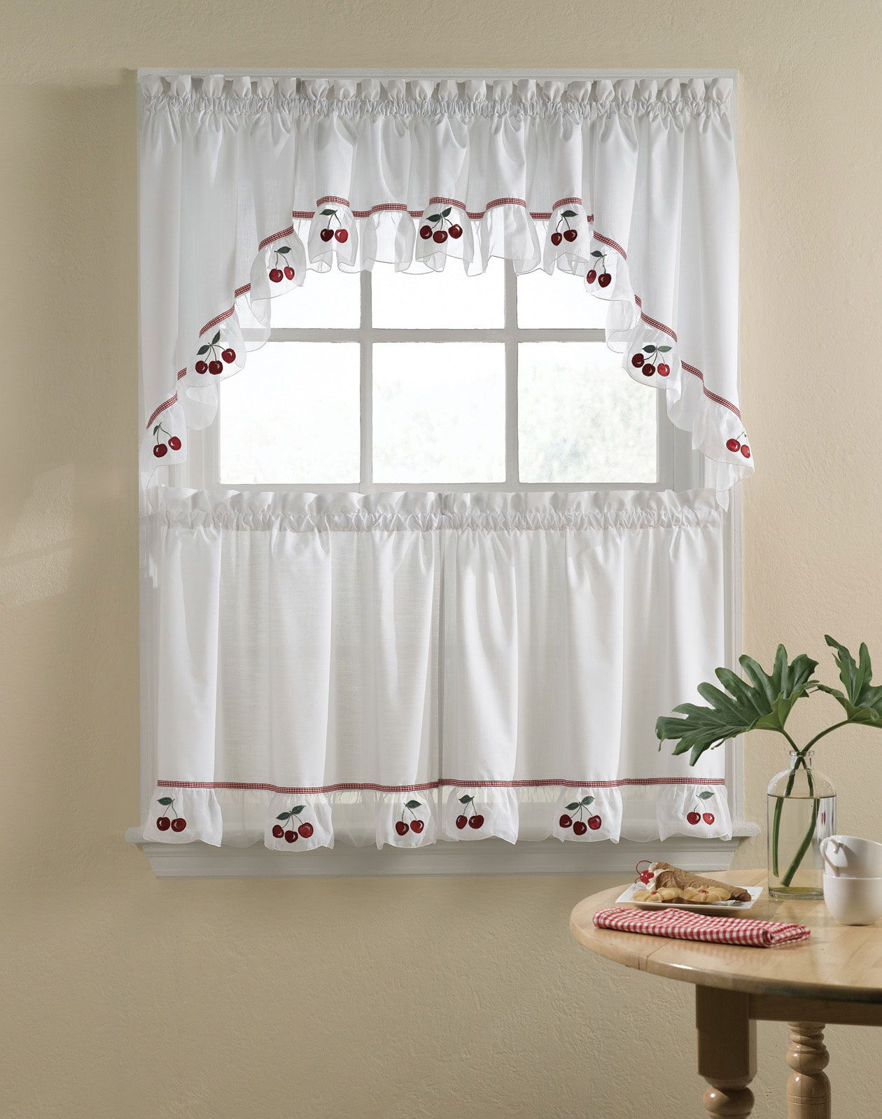 Yellow And Red Kitchen Curtains Embroidered Vineyard Cafe Curtain Set Vineyard Kitchen Sinks
