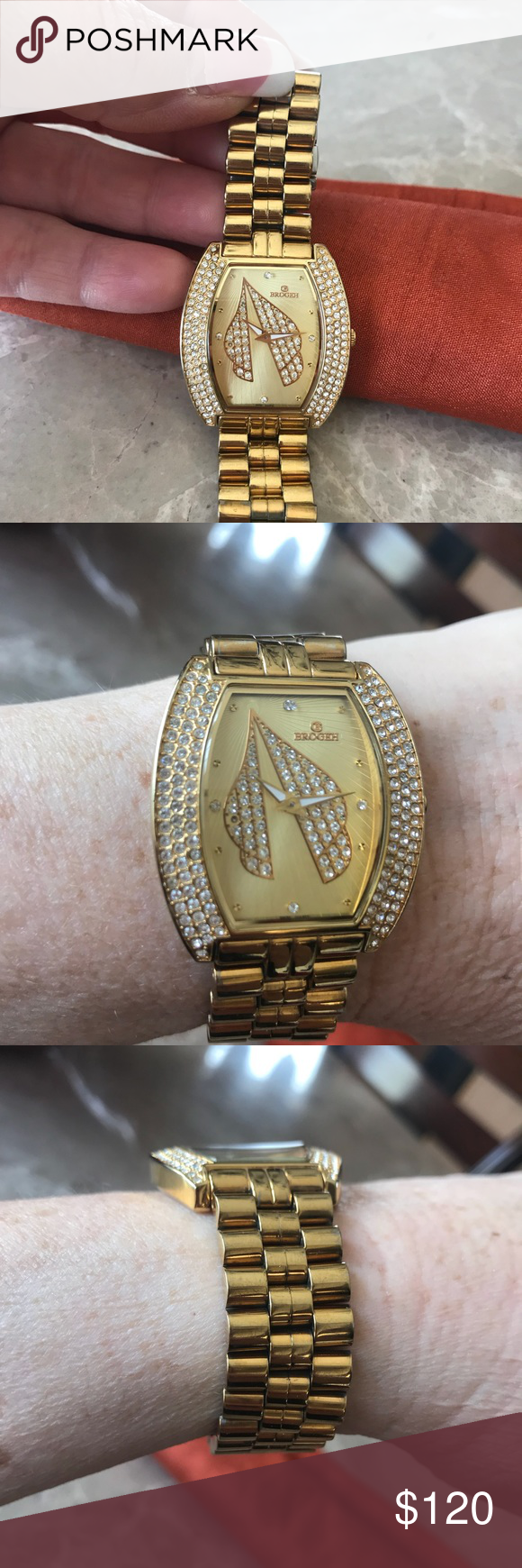 Brogeh Women S Watch With Sapphire Coating Crystal Brogeh Women S Watch Purchased In Dubai Sapphire Coating C Accessories Things To Sell Accessories Watches