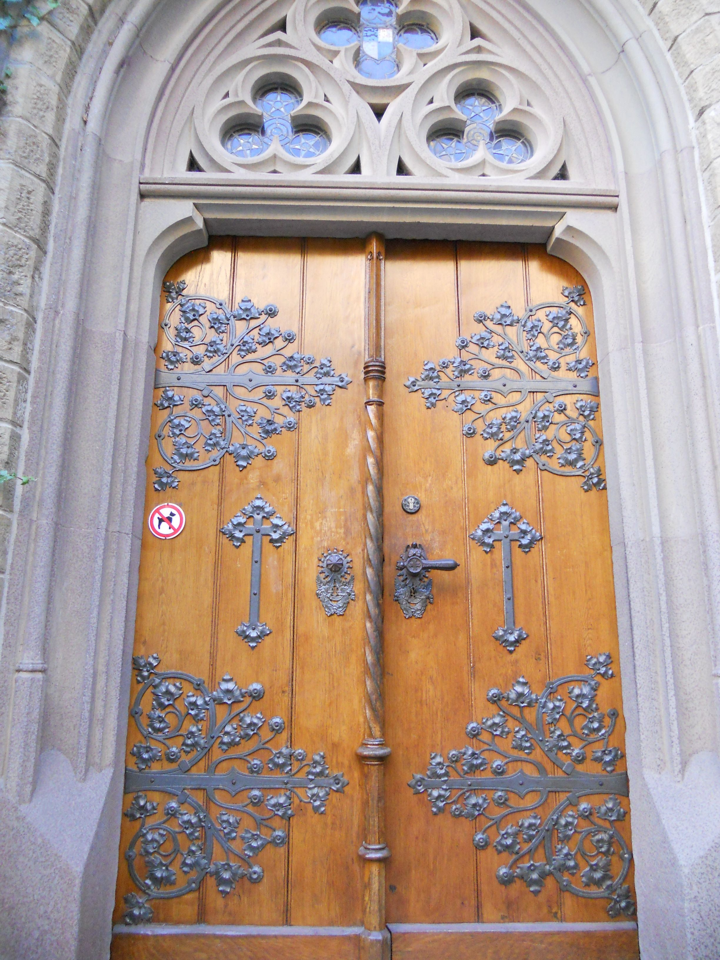 This is one of the Chapel doors at Castle Hohenzollern, Hechingen Germany.