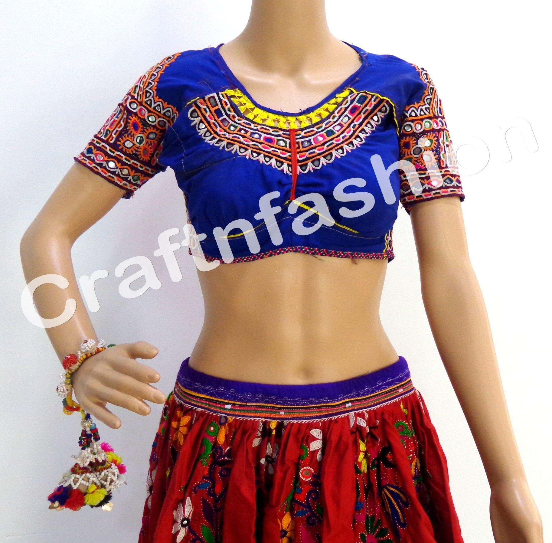 #rabarimirrorworkblouse #rabarilaceworkblouse #rabariglassworkblouse  by  #CraftsOfGujarat #craftnfashion #meghcraft #indianethnicjewelry #IndianTraditionalJewelry Megh Craft - Indian Ethnic Jewelry