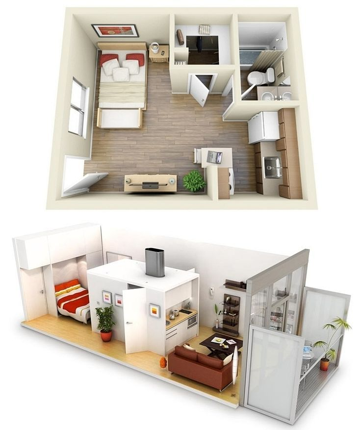 Amazing Apartments Modern One Bedroom Apartment Interior Design With ...