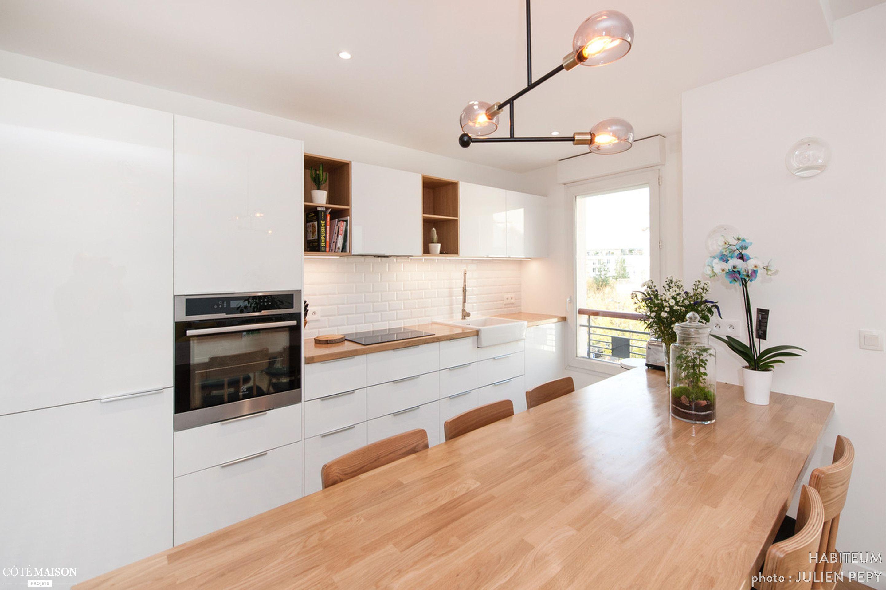 Appartement rénové à Bois-Colombes | Cuisines maison, Idée déco appartement, Idée déco cuisine