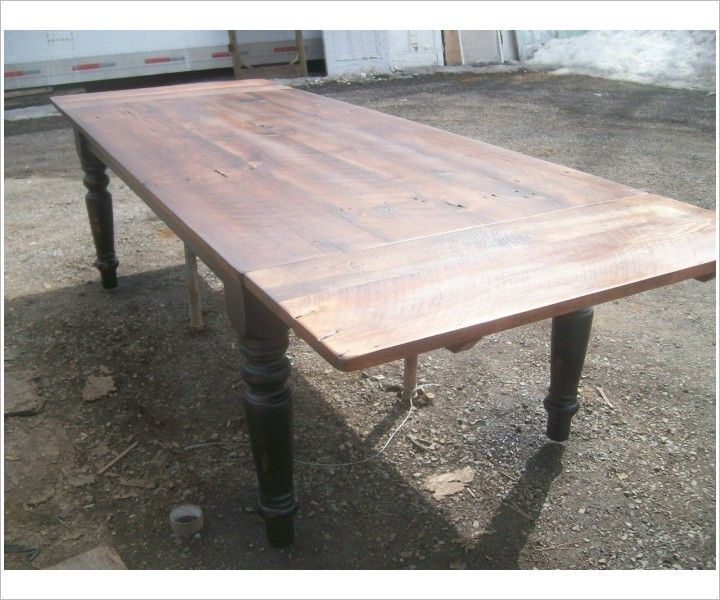 Incroyable Seven Foot Reclaimed Wood Harvest Table With Leaves   Glengarry Harvest    Farm Tables   Johnsons