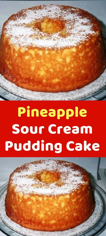 Pineapple Sour Cream Pudding Cake Cakemix Bakken Gebak