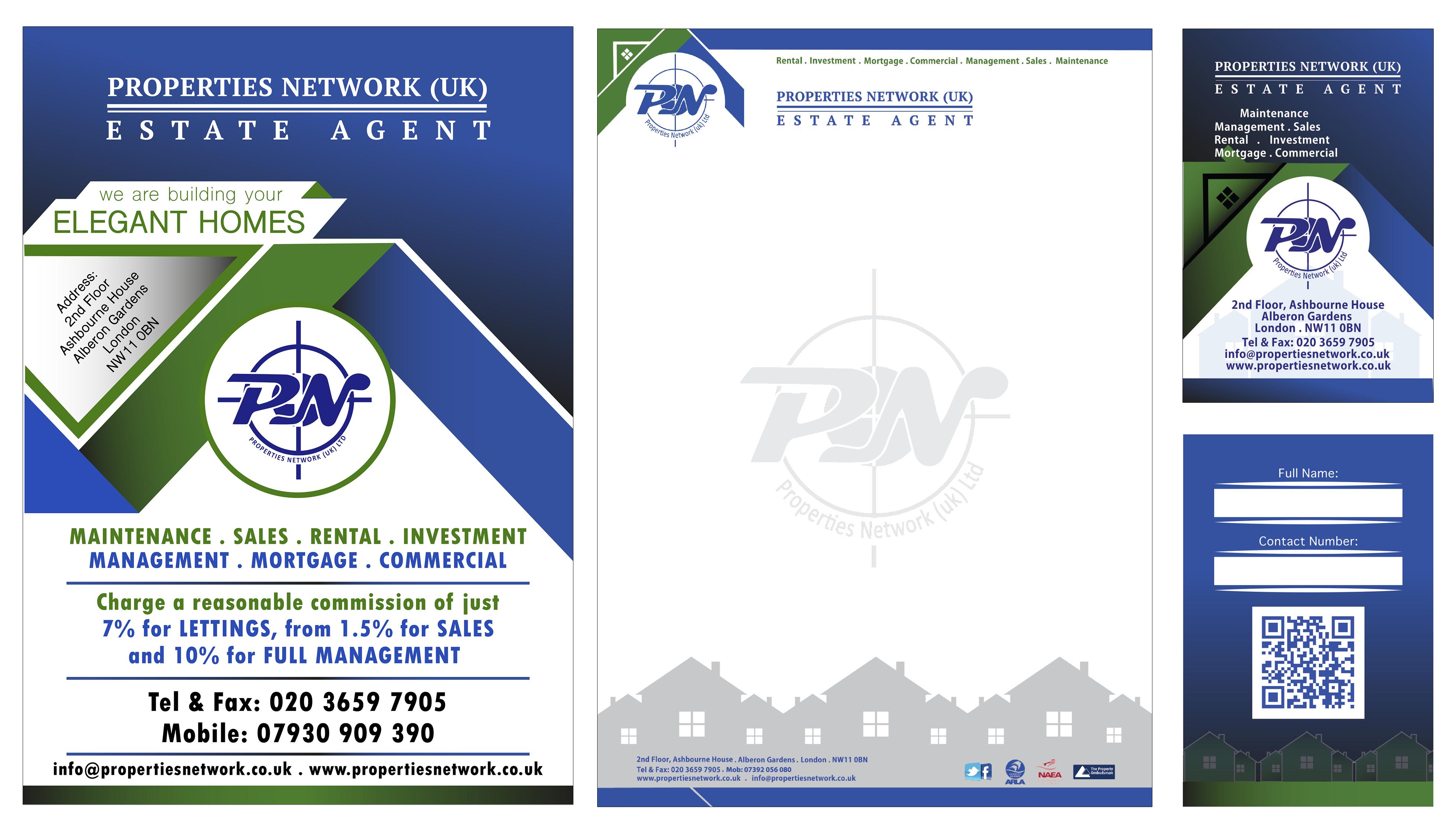 Properties Network Leaflet design, Elegant homes, Print