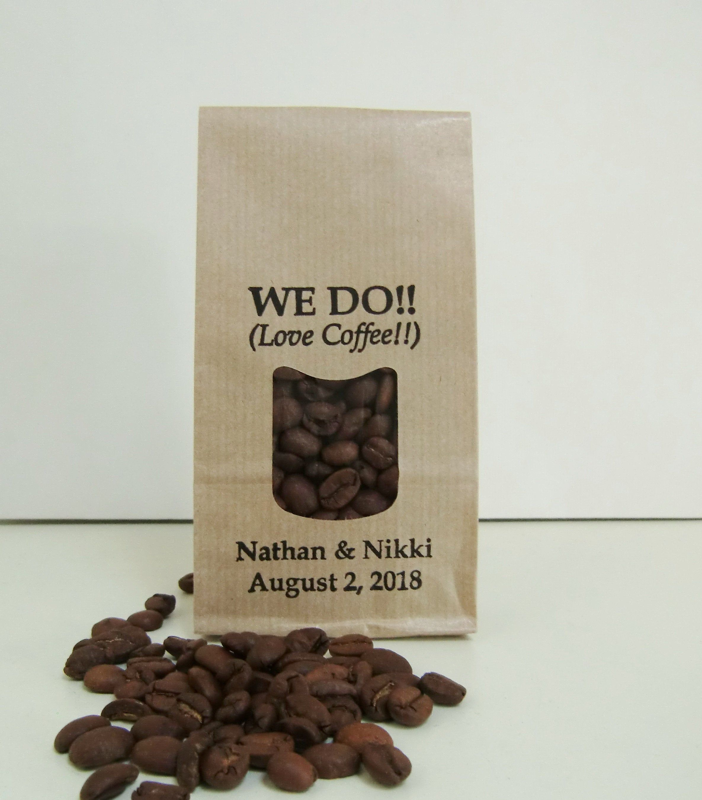 Wedding Favor Bags WE DO Love Coffee diy Personalized
