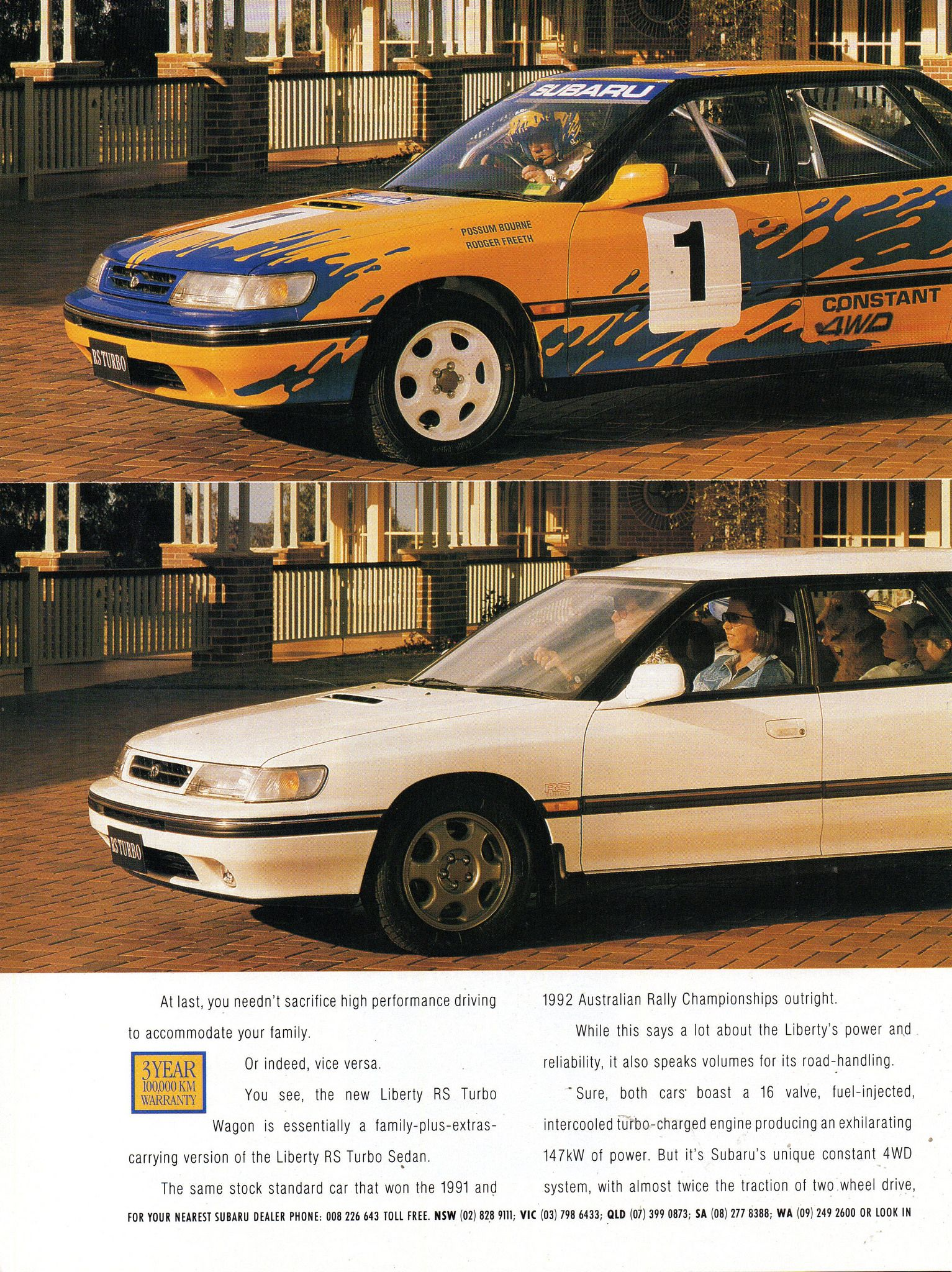 1993 Subaru Liberty Rs Turbo Sedan Wagon Page 1 Aussie Original Magazine Advertisement Subaru Subaru Legacy Subaru Wagon