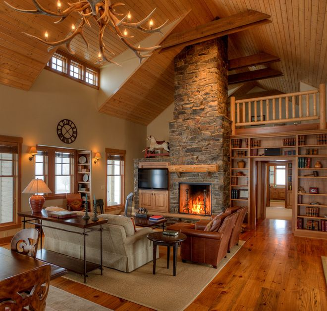 The Main Living Space Is Wide Open Yet Cozy. The Knotty