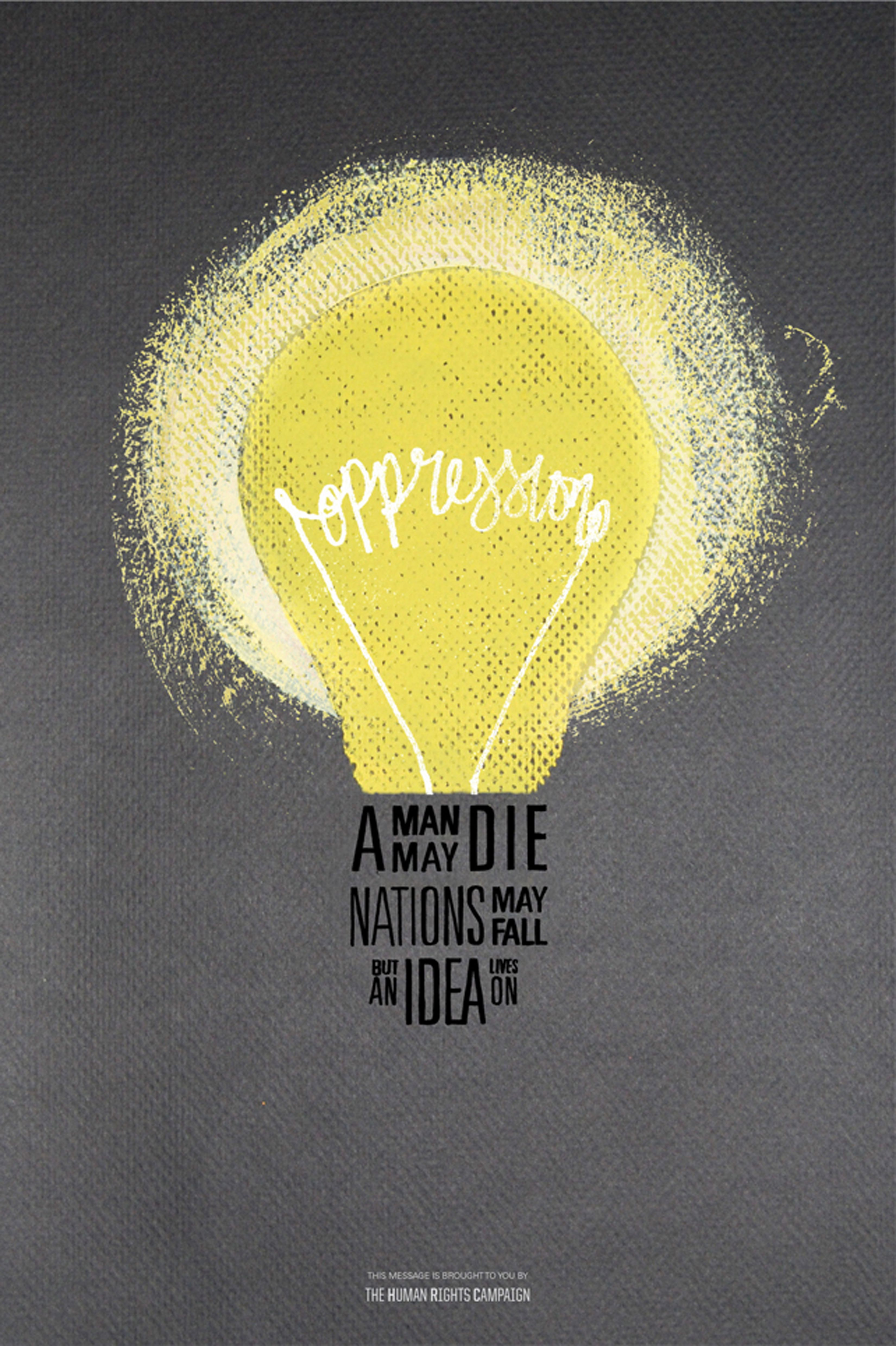 Quote poster design inspiration - Oppression Poster Lightbulb Different Quotesgraphic Design Inspirationoffice