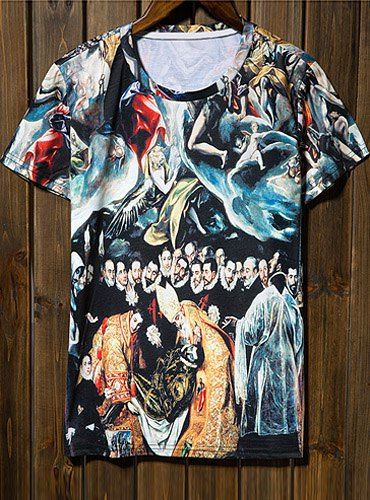 art in t-shirt