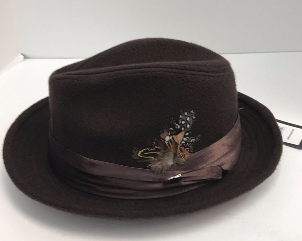 c0cfe96cb49 Men s Fedora Brown Dress Hat Montell Collection by Bruno Capelo Wool Blend  New  BrunoCapelo  Fedora