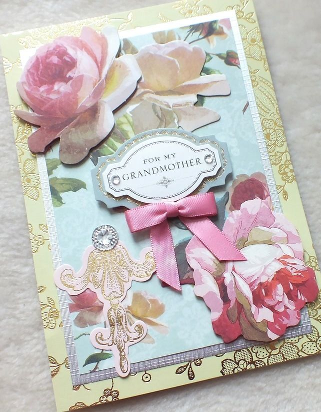Luxury Handmade Grandmother Birthday Card Boadicea Cards Luxury