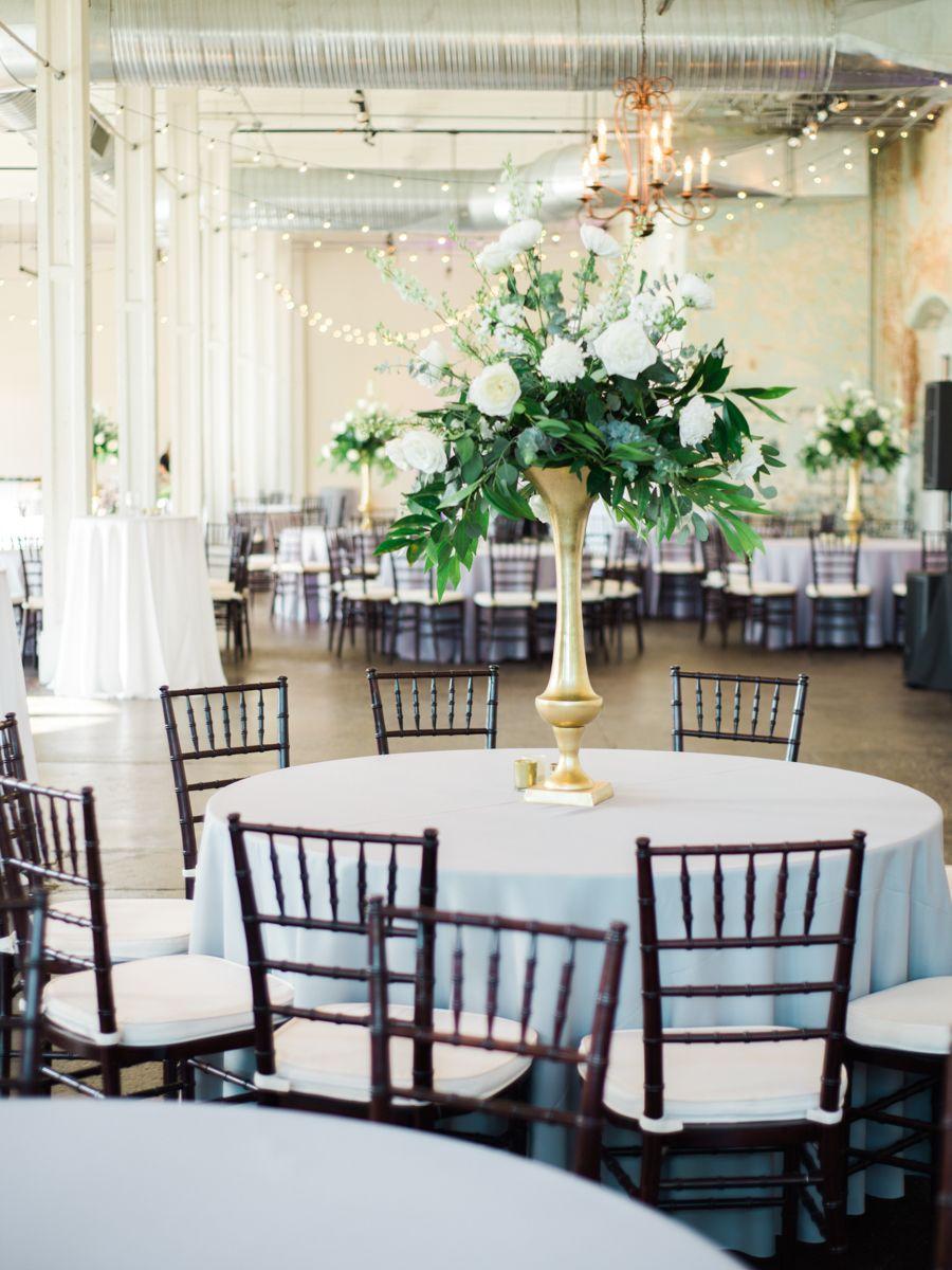 Wedding decorations for reception december 2018 Organic  Industrial Wedding at  Whaley  Reception VenueDecor