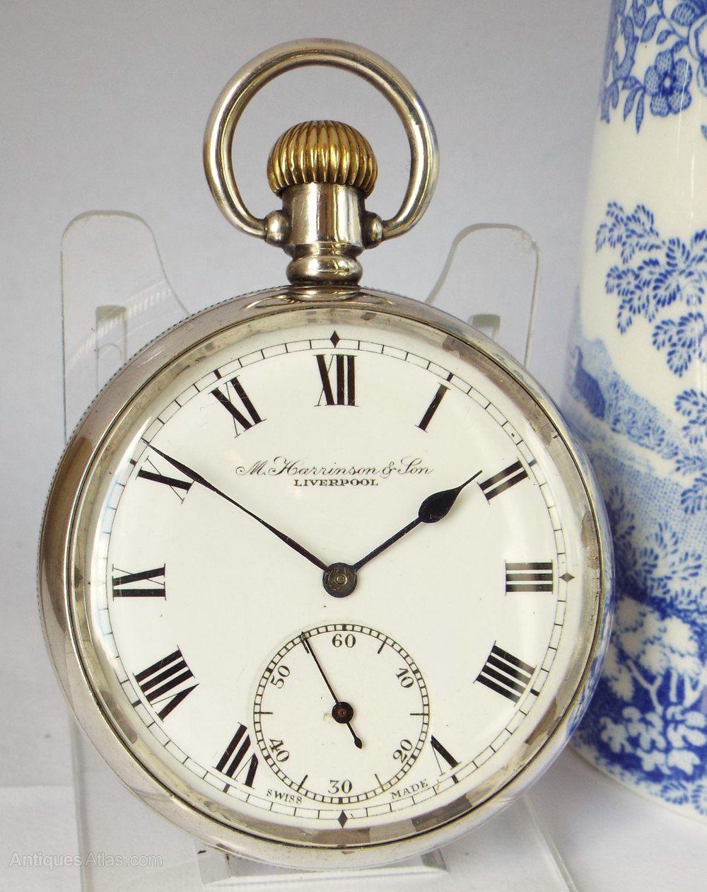 91f81b267 Antiques Atlas - Antique Silver Pocket Watch By Tavannes Watch Co ...