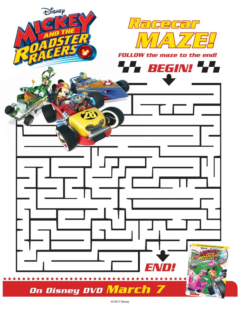 Roadster Racers Maze From Disney And Mickey Mouse Mickey
