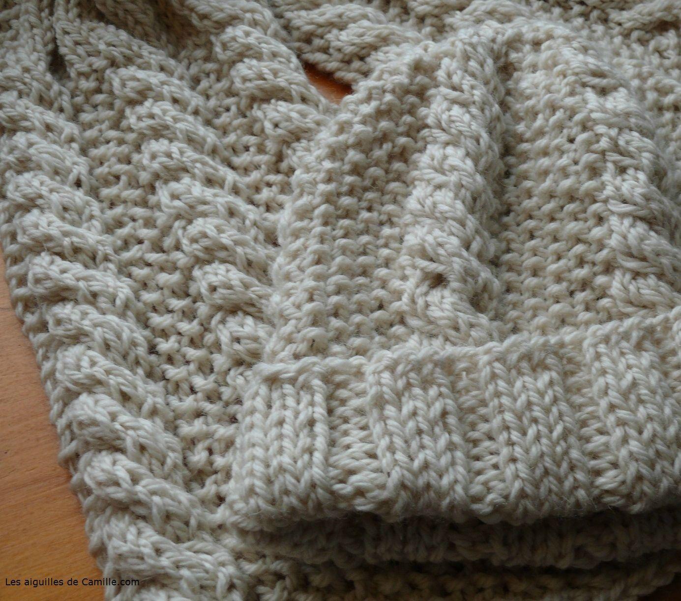 mod le echarpe tricot aiguille 10 tricot bonnets. Black Bedroom Furniture Sets. Home Design Ideas