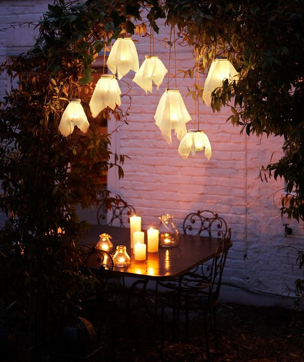 Diy garden lights good idea even if not covered w muslin looks a diy garden lights good idea even if not covered w muslin looks a aloadofball Gallery
