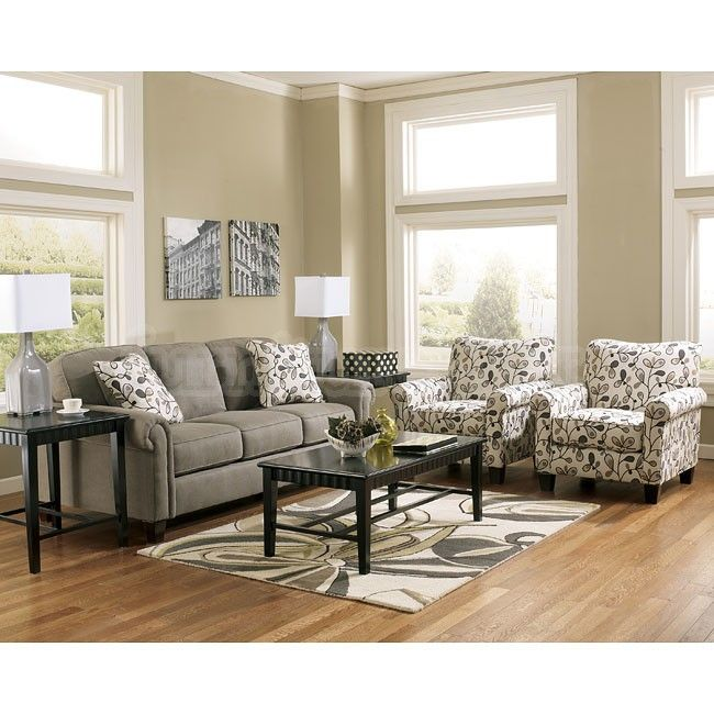Room Gusti Dusk Sofa Set W Accent Chairs