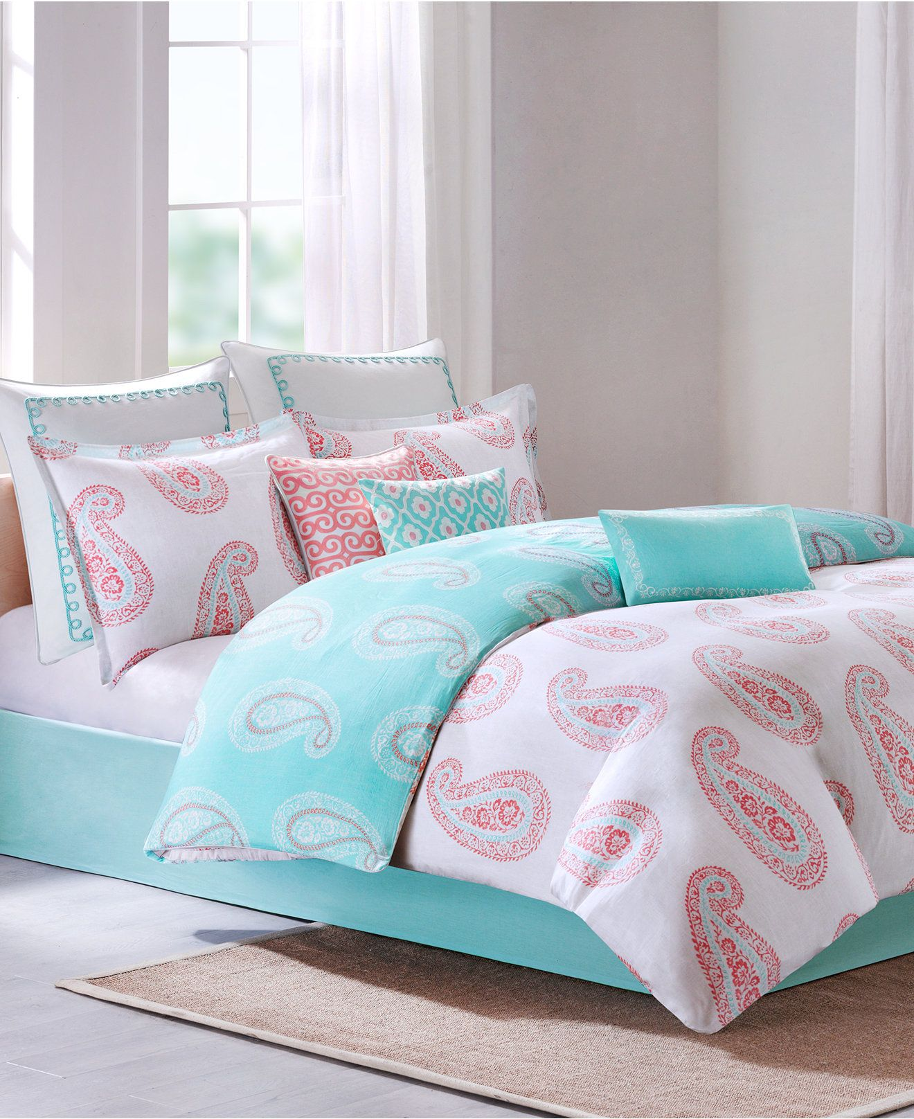 CLOSEOUT Echo Madira Coral Bedding Collection Echo Bed & Bath