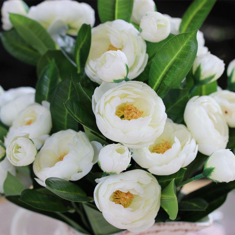 Silk flower white camellia artificial 5 flowers and 5 buds per bush silk flower white camellia artificial 5 flowers and 5 buds per bush wholesale mightylinksfo