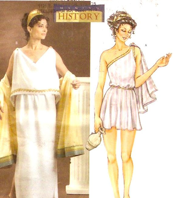 Mccall S 3514 Greek Roman Gown Toga Costume Sewing Pattern: Grecian Goddess Dress Sewing Pattern Ancient Greece Helen