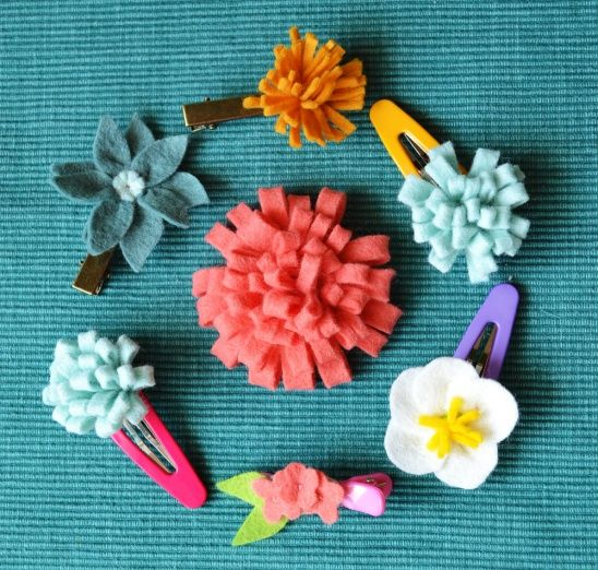 Felt flower accessoiries by Anne | Project | Embroidery / Accessories | Kollabora #diy #kollabora #felt #hair