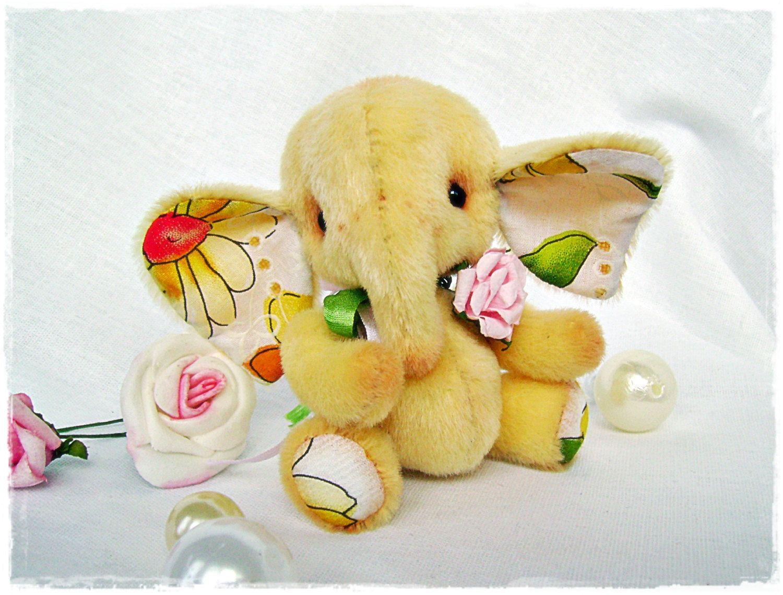 PDF Pattern - Mini-elephant Freckle - Artist Teddy Bear (9.99 USD) by TashkasBears