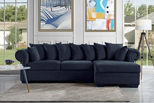Modern Fabric Sectional Sofa L Shape Couch with Ex