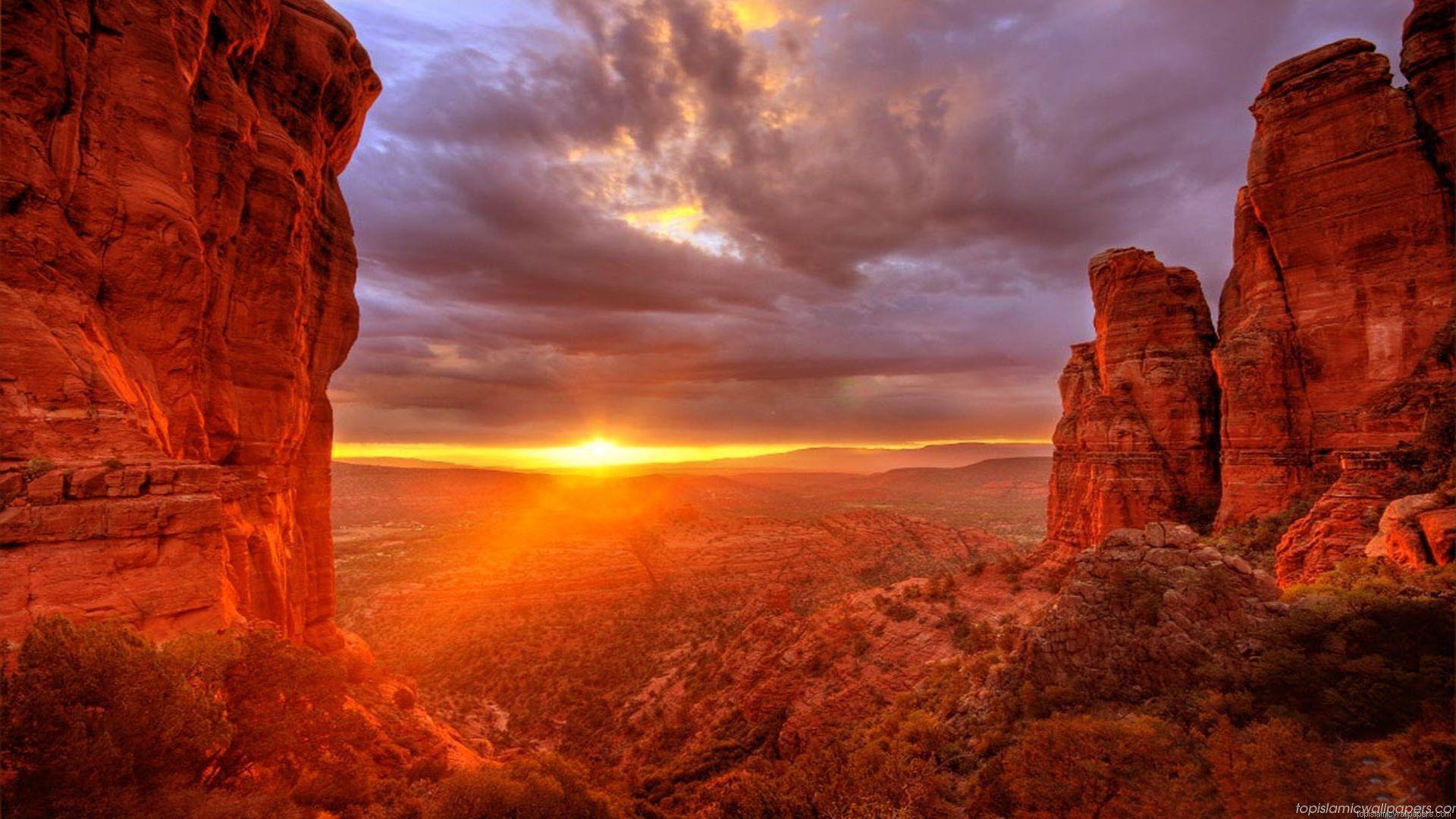 islam hd sunset from arizona top beautiful islamic 1920x1080px