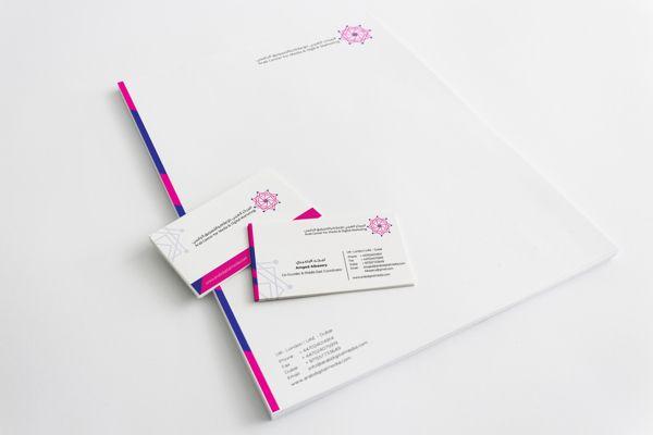 Business card & letterhead | Arab Center for media.. on Behance