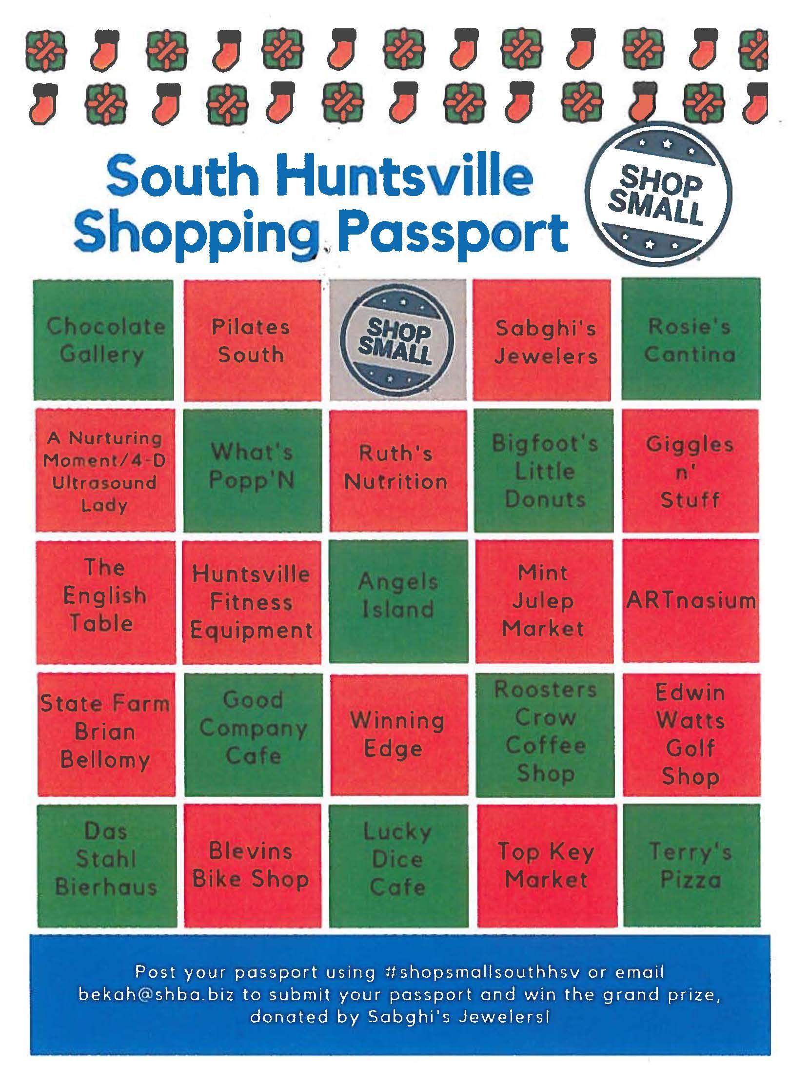 South Huntsville Shopping Passport Huntsville, State