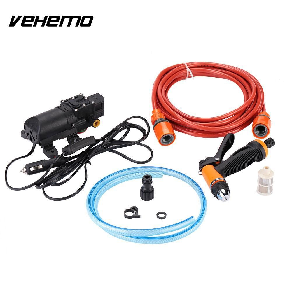 Vehemo Dc 12v 130psi Portable Durable High Pressure Pump Washing Machine Washer Spray Car Washer Pump Car Cleaner Pump Sprayer Washer Pump Car Washer Washing Machine Washer