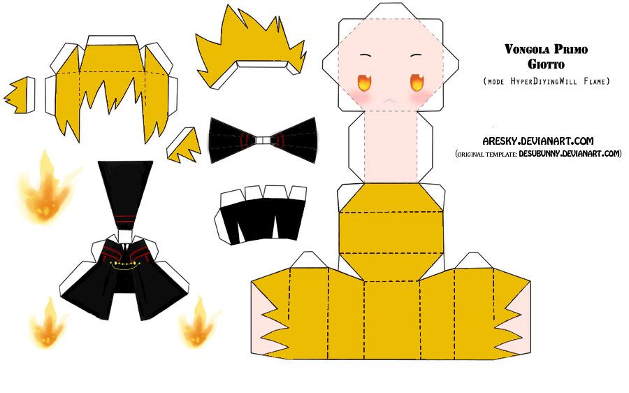 Anime Papercraft Templates  Papercraft Khr Giotto By Aresky On