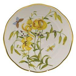 Herend American Wildflowers Meadow Lily Dinner Plate