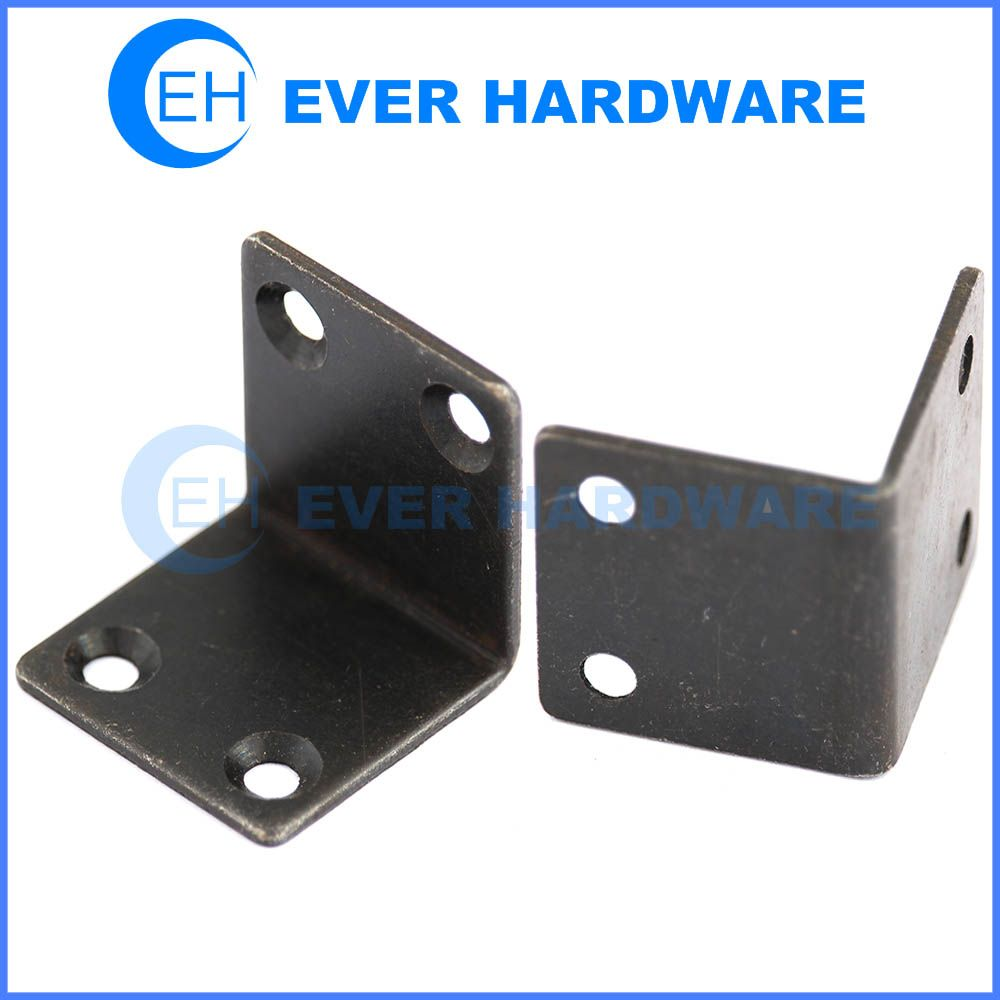 Angle Support Bracket Galvanised Steel L Brackets Black
