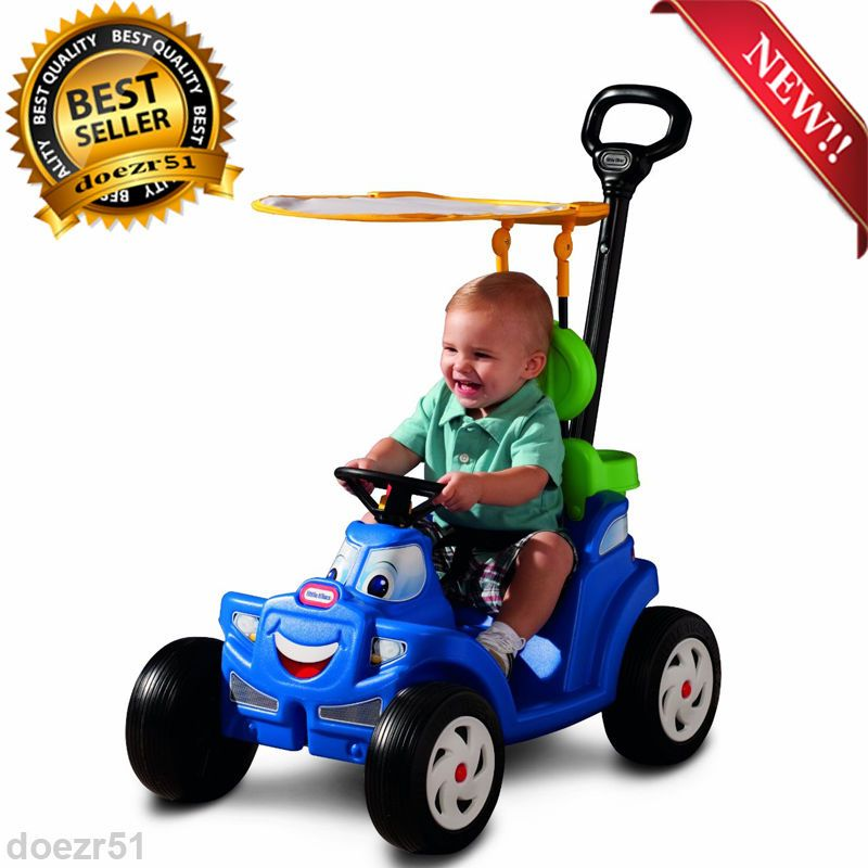 car stroller deluxe roadster ride on push toddler car with handle outdoor kids