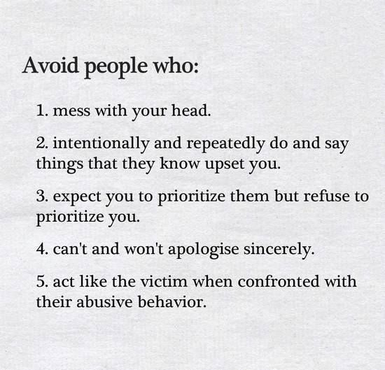 Avoid people who: |  Food for Thought  | Quotes, Negative people