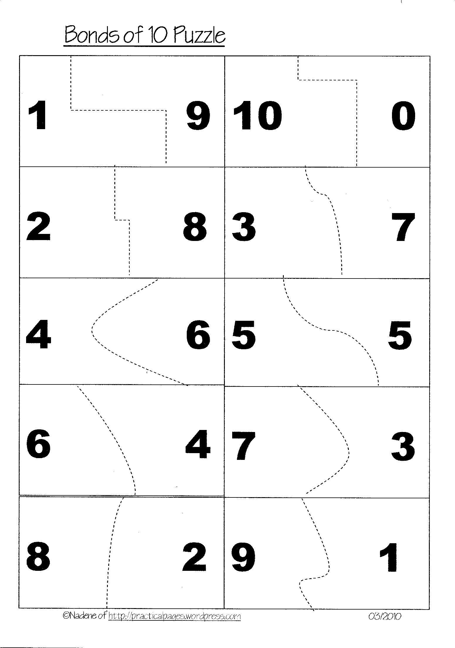 make 10 puzzles | Ashley | Pinterest | Mathematik und Mathe