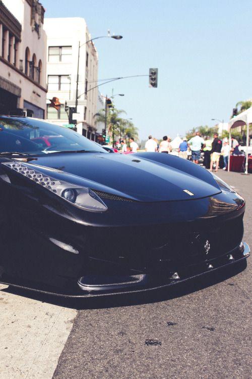 thelavishsociety:Black Ferrari by Shannon B | LVSH