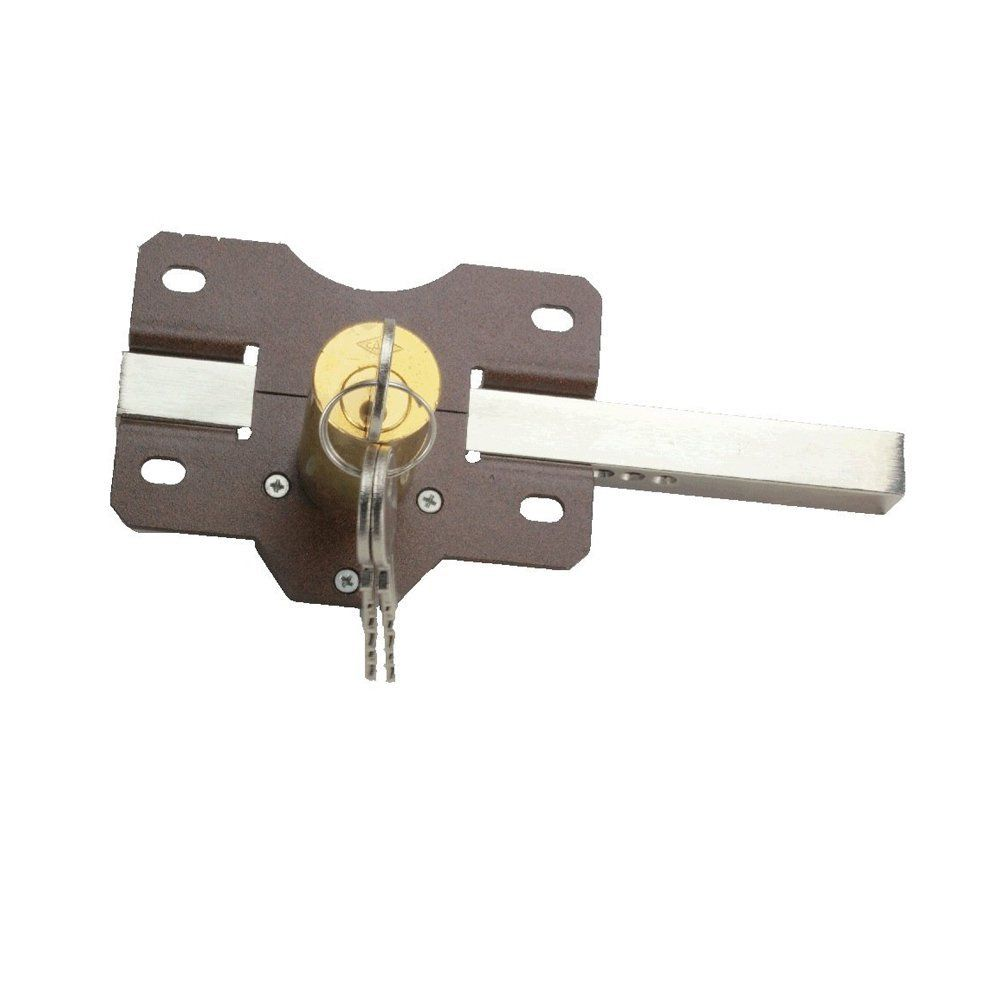 Eliza Tinsley Long Throw Gate Lock Double Locking For 2 1 2 Inch Thick Gates Brown Gate Locks Gate Locks