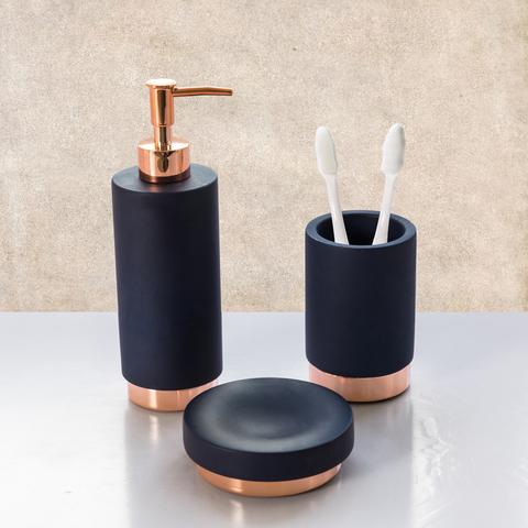 navy blue rosy gold bath accessories sets navy blue rosy