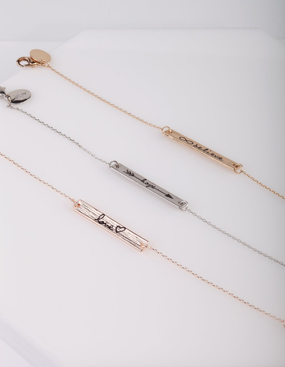 Love Hope And Believe Message Bracelet 3 Pack Lovisa Jewellery