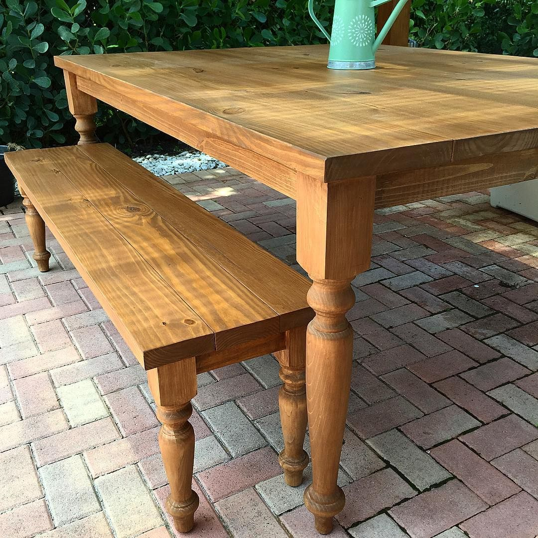 Created this beautiful dining table and bench for an outdoor living space. #Carved_Furniture