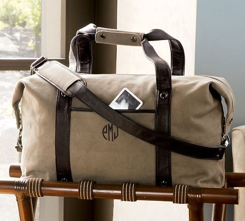 Pottery Barn 99 Colby Canvas Duffle Bag F 2 Zippered