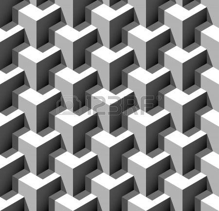 3d seamless pattern vector illustration stock vector