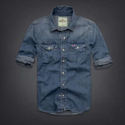 1cb038077 camisas jeans hollister masculinas