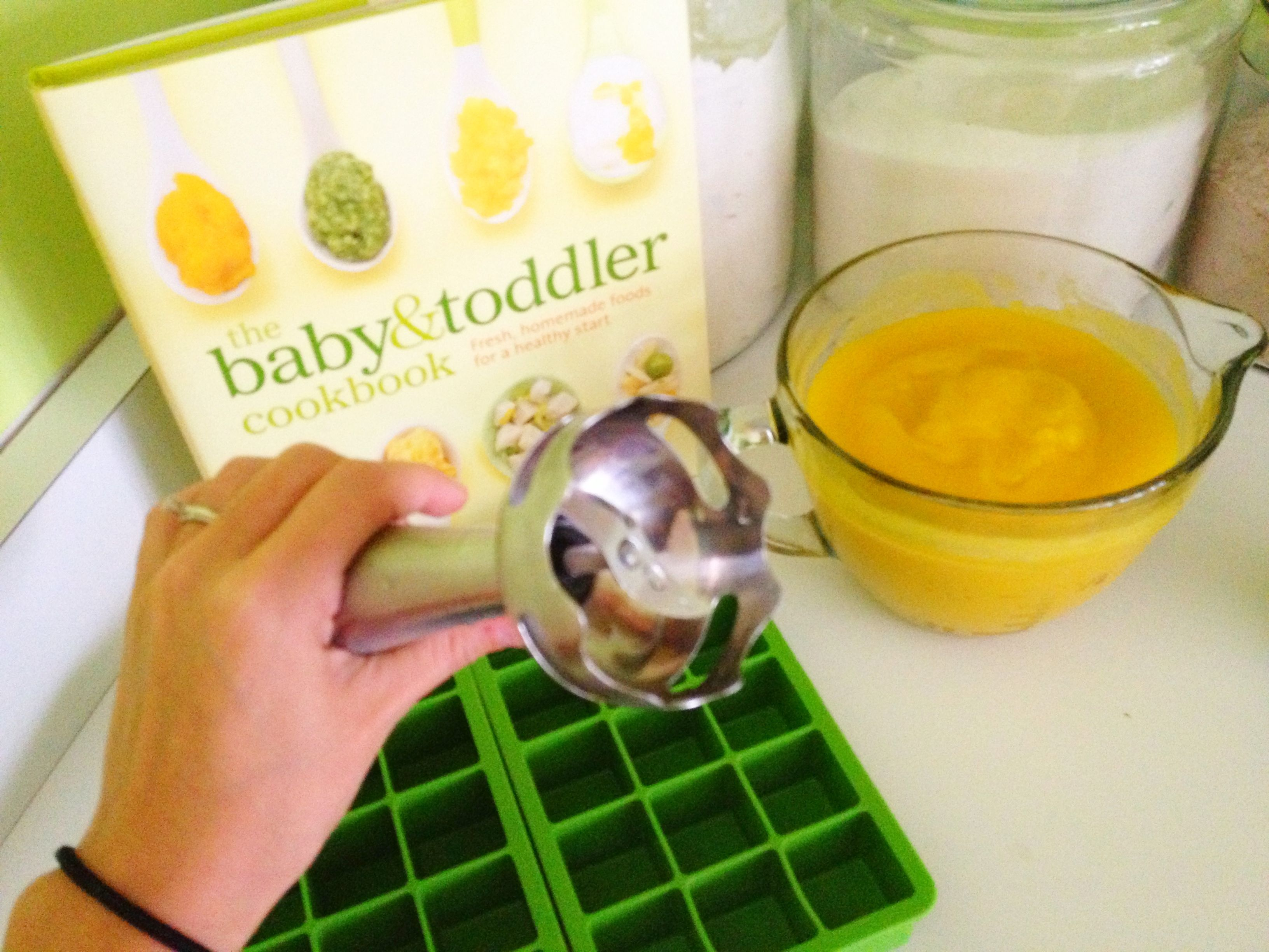 An immersion blender is the best homemade baby food tool! And you can use it for so many other things!